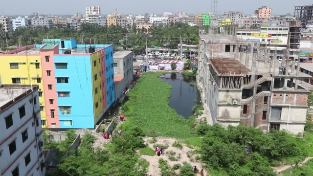 general view of the site of rana plaza building collapse is seen on the third anniversary year anniversary of the incident at savar in dhaka... - health and safety stock videos & royalty-free footage
