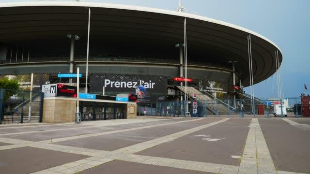 "vidéos et rushes de general view of the ""stade de france"" football / soccer stadium, which is closed to the public on august 11, 2020 in paris, france. - temps réel"