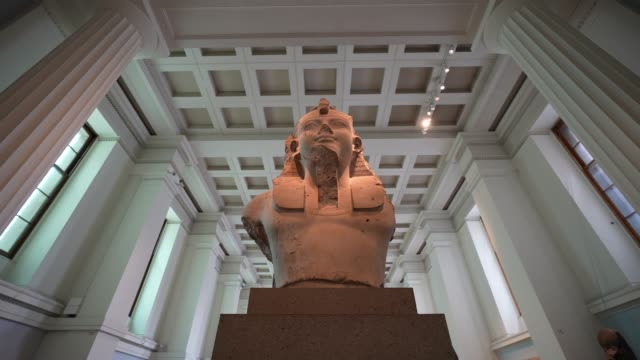 general view of the statue of king ramesses ii in room 4 at british museum on august 25, 2020 in london, england. grayson perry unveils unseen... - british museum stock videos & royalty-free footage