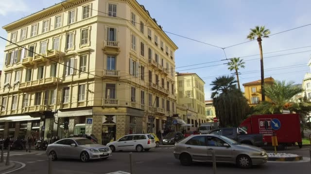 a general view of the street on february 8 2019 in sanremo italy - general view stock videos and b-roll footage