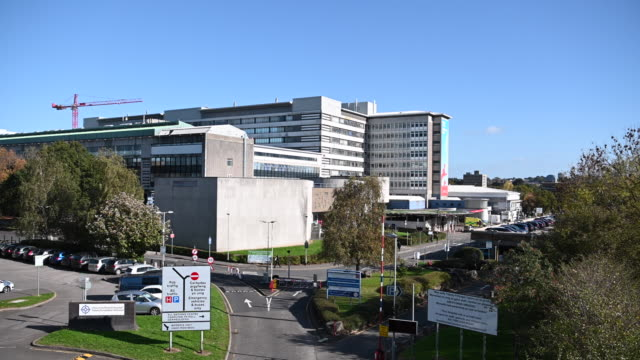 a general view of the university hospital of wales known locally as heath hospital on october 22 2018 in cardiff united kingdom - cardiff wales stock videos & royalty-free footage
