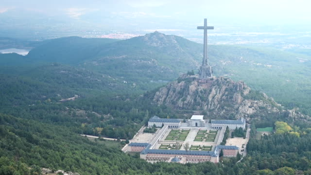 general view of the valle de los caidos mausoleum in san lorenzo del escorial during the exhumation of spanish dictator francisco franco on october... - general view stock videos & royalty-free footage