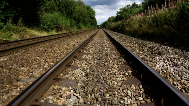 a general view of train tracks through the cheshire countryside on august 23 northwich england - cheshire england stock videos & royalty-free footage