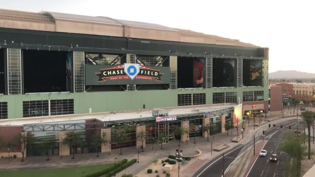 general view outside of chase field on march 26 2020 in phoenix arizona the arizona diamondbacks and the atlanta braves were scheduled to play a... - arizona stock videos & royalty-free footage