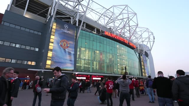general view outside old trafford old trafford general views at old trafford on march 05 2013 in manchester england - general view stock videos & royalty-free footage