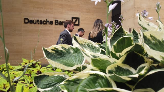 A general view outside the Deutsche Bank building in central London on July 8 2019 in London England Deutsche Bank have started to make the first of...