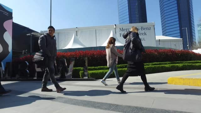 a general view outside the venue during the mercedesbenz fashion week istanbul autumn/winter 2016 at zorlu center on march 18 2016 in istanbul turkey - general view stock videos & royalty-free footage
