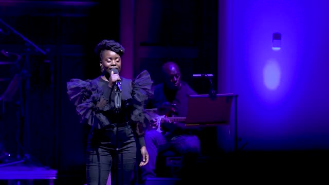 general view - sharon rose sings don't upset the rhythm at 'turn up london' at cadogan hall during 'turn up london' at cadogan hall on june 29, 2020... - distraught stock videos & royalty-free footage