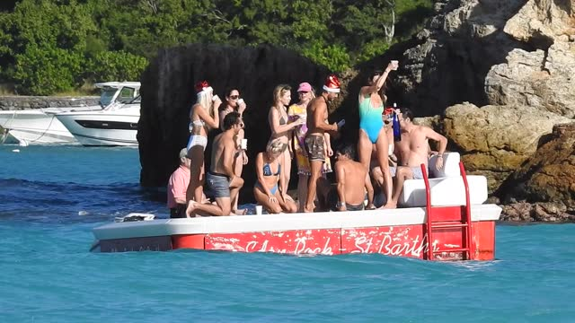general views and atmosphere of saint barthelemy at christmas time during the covid 19 in 2020 life seems as normal as usual on the billionaire... - french overseas territory stock videos & royalty-free footage