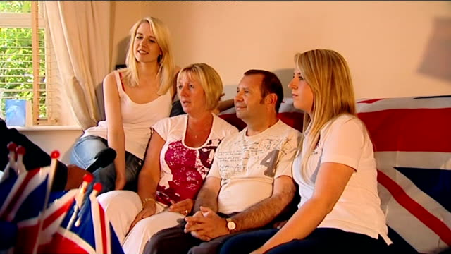general views and interviews with adlington family england nottinghamshire mansfield int adlington family sitting together for interview and kay... - nottinghamshire stock videos & royalty-free footage
