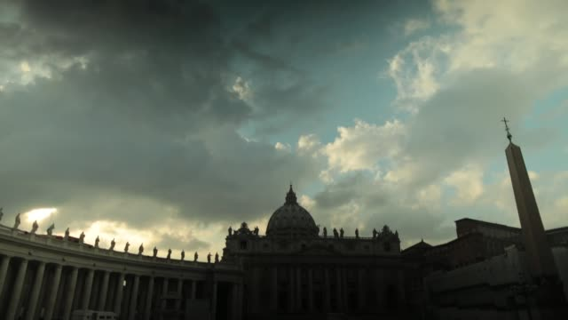 general views around vatican city after pope benedict xvi delivered his last angelus blessing from the window of his private apartment to thousands... - ベネディクト16世の退位点の映像素材/bロール
