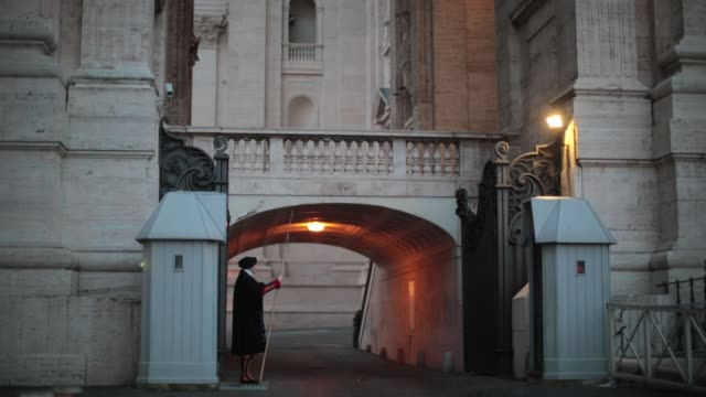 general views around vatican city after pope benedict xvi delivered his last angelus blessing from the window of his private apartment to thousands... - vatikanstaat stock-videos und b-roll-filmmaterial