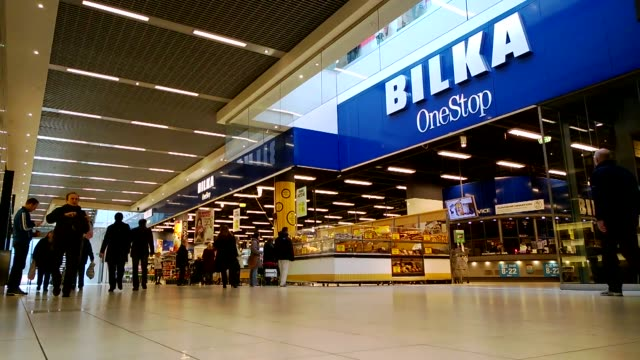General views customers enter a Bilka OneStop supermarket operated by Dansk Supermarked A/S at Fields Mall in Copenhagen Denmark on Tuesday Jan 7 A...