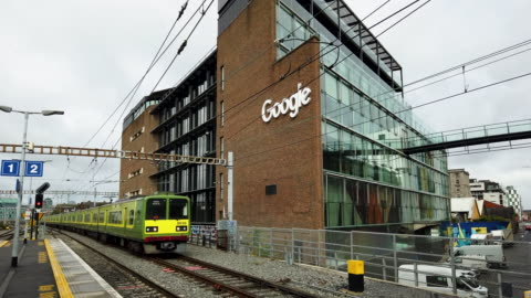 general views from google hq dublin. - headquarters stock videos & royalty-free footage