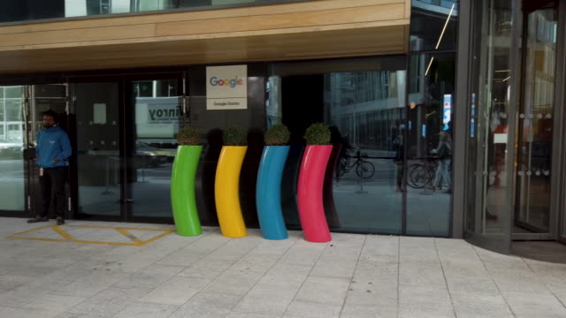 general views from google hq dublin - building exterior stock videos & royalty-free footage