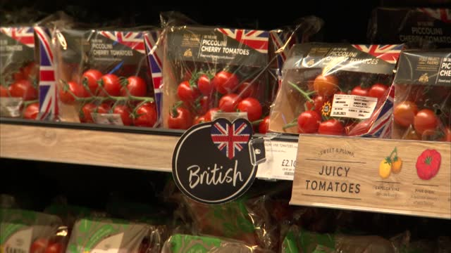 general views inside marks and spencer department store; england: int 'm&s food' sign at supermarket entrance / gvs inside m&s food hall including... - groceries stock videos & royalty-free footage