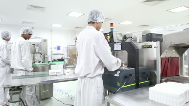 General views labeling machinery operates inside the packaging unit at the Lupin Ltd pharmaceutical plant in Salcette Goa India on Friday Feb 7 Pan...
