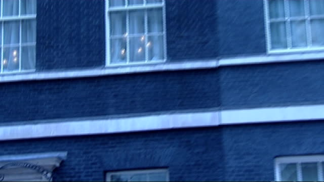 general views of 10 downing street; england: london: downing street: ext various 'arty' shots of 10 downing street shot from various angles/ union... - gesamtansicht stock-videos und b-roll-filmmaterial