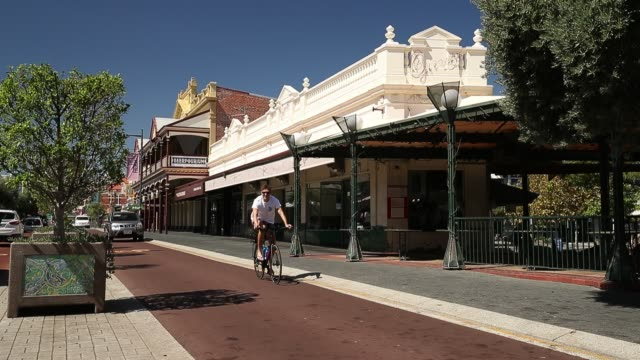 general views of a deserted south terrace are seen on march 26, 2020 in fremantle, australia. further restrictions on travel and movement have been... - tattoo stock videos & royalty-free footage