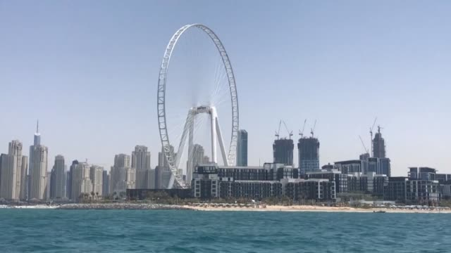 general views of ain dubai dubbed the eye of dubai after the uk's london eye which according to the developer will be the world's largest ferris... - general view stock videos & royalty-free footage