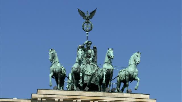 Brandenburg Gate Berliner Dome Palace of the Republic Potsdamer Platz and high angle views of city God shots of Brandenburg Gate in the sunshine /...