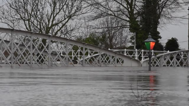 general views of cawood and cawood bridge which crosses the river ouse on december 28, 2015 in cawood, england. heavy rain over the christmas period... - river ouse stock videos & royalty-free footage