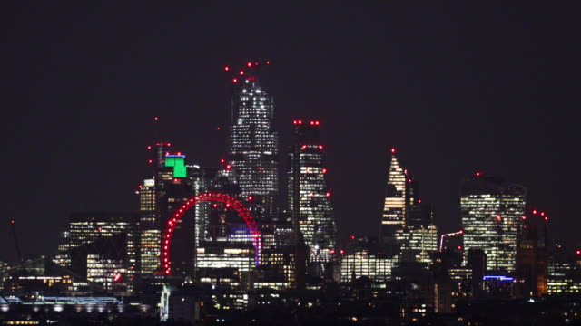 general views of central london the hustle and bustle at night - skyline stock videos & royalty-free footage