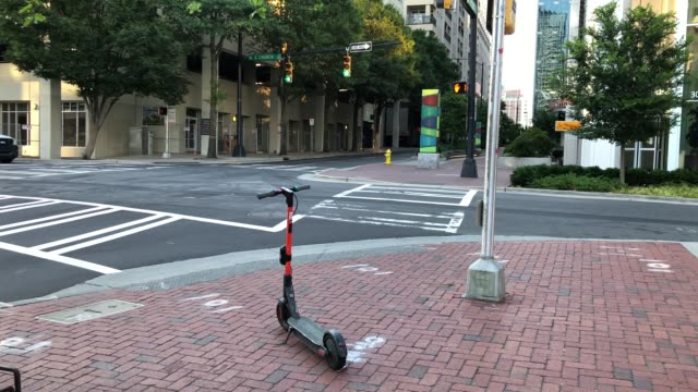 general views of charlotte, north carolina on july 12, 2020 as cities around the u.s. continue to adjust to restrictions implemented to prevent the... - non urban scene stock-videos und b-roll-filmmaterial