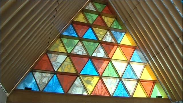 General views of Christchurch's Anglican Transitional Cardboard Cathedral