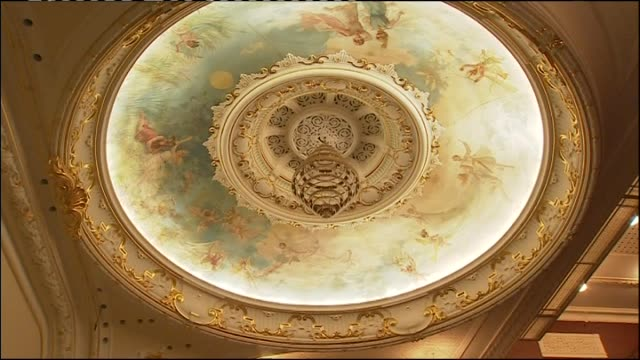 general views of christchurch's historic isaac theatre royal during restoration due to earthquake damage - theatre royal stock videos and b-roll footage