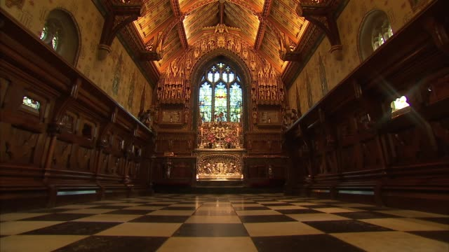 general views of church of st mary magdalene in sandringham england norfolk sandringham church of st mary magdalene int general views of st mary... - general view stock videos & royalty-free footage