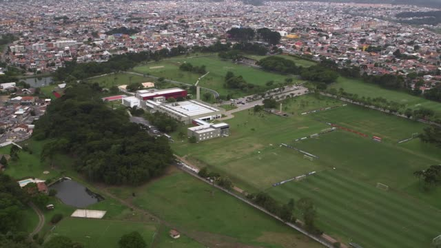 general views of curitiba ahead of the 2014 fifa world cup shot on 14th december 2013 - brasile meridionale video stock e b–roll