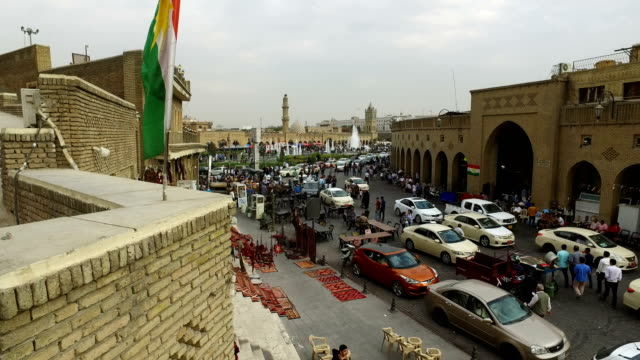 General view's of Erbil shot on 27th of October 2017 in Erbil Syria After the Kurdish Regional Government held an independence referendum on...