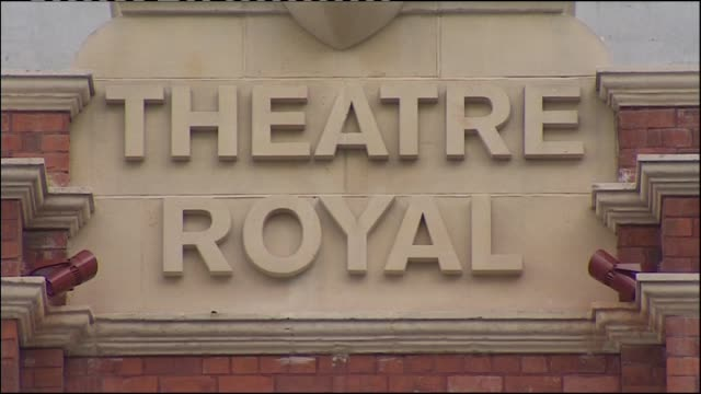general views of exterior of christchurch's historic isaac theatre royal during restoration due to earthquake damage - theatre royal stock videos and b-roll footage