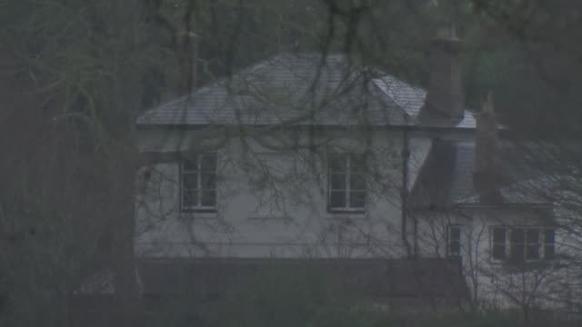 general views of frogmore cottage; england: berkshire: windsor: ext / raining gvs of frogmore cottage in windsor great park . - cottage stock videos & royalty-free footage