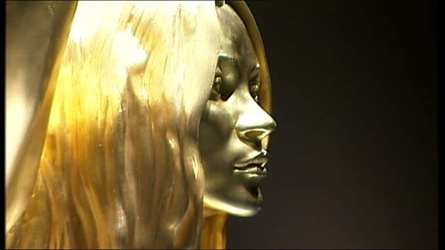 general views of gold statue of kate moss by sculptor marc quinn england london british museum int 'siren' statue by marc quinn on display in 'statue... - statue stock videos & royalty-free footage