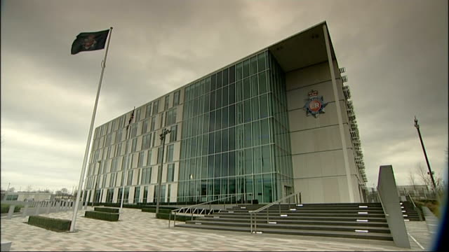 General views of Greater Manchester Police Force Headquarters ENGLAND Manchester EXT General views of Greater Manchester Police Force Headquarters...