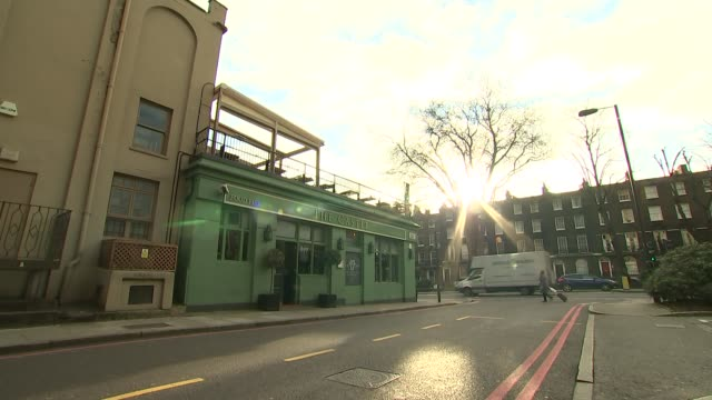 general views of hatton garden and the castle pub islington general views of 'the castle' pub / traffic along outside pub / cctv cameras / sign 'the... - the castle stock videos and b-roll footage