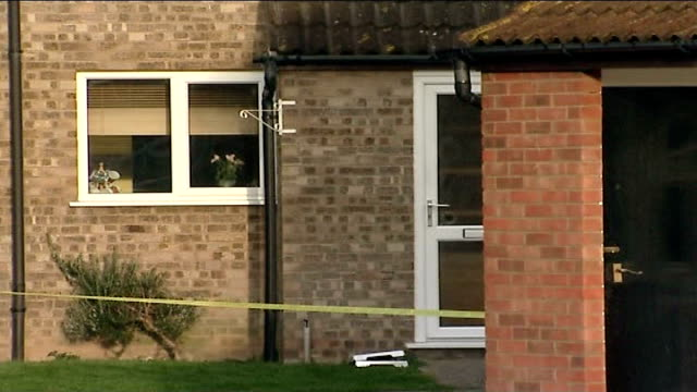 general views of house where tom stephens was arrested in connection with the murder of 5 women in ipswich; england: suffolk: trimley: ext various of... - イーストアングリア点の映像素材/bロール