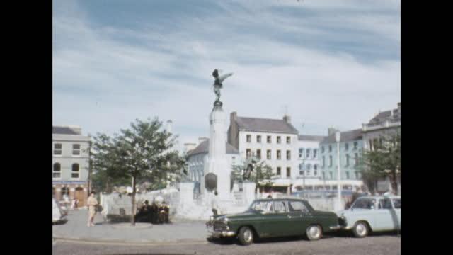 general views of londonderry, northern ireland; 1969. - establishing shot stock videos & royalty-free footage