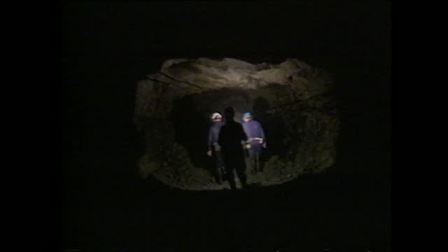 general views of miners working underground in the wheal jane tin mine in cornwall, uk; 1986. - mining stock videos & royalty-free footage