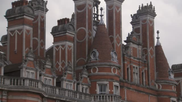 general views of royal holloway, university of london - 19th century style stock videos & royalty-free footage