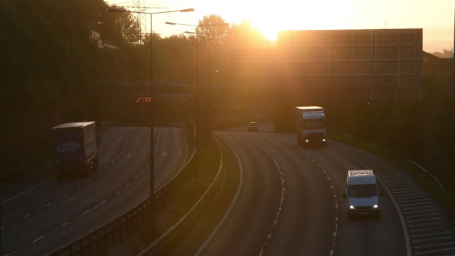 general views of shoppers closed shops m60 motorway traffic and view of the bus station in stockport greater manchester england uk on monday june 22... - cobblestone stock videos & royalty-free footage