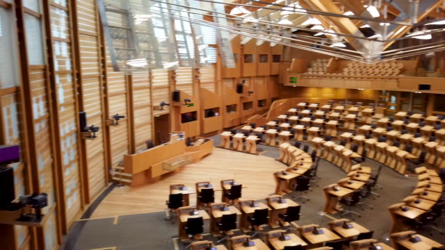 general views of the chamber of the scottish parliament on november 20 2019 in edinburgh scotland - parliament building stock videos & royalty-free footage