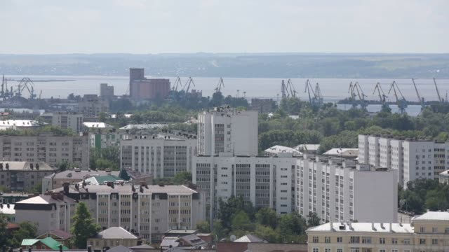 general views of the city of kazan russia on july 25 2015 shots wide aerial view of many pedestrians walking around in kazan many wide aerial shots... - kazan russia stock videos and b-roll footage