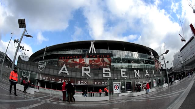 General views of The Emirates Stadium home to Arsenal Football Club in north London February 7 2013 General View Of Arsenal's Emirates Stadium on...