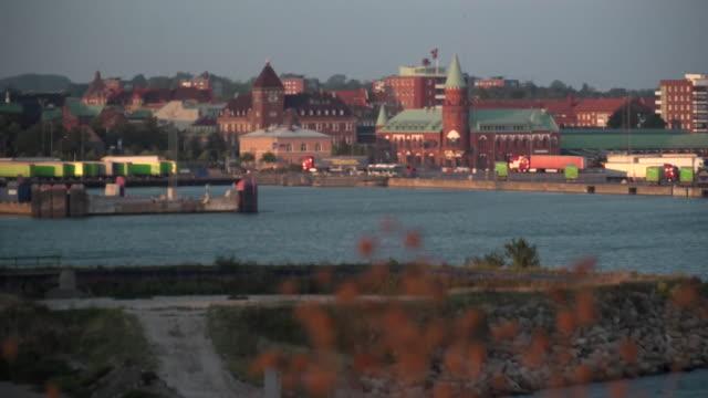 general views of the harbour in trelleborg sweden - oresund region stock videos & royalty-free footage