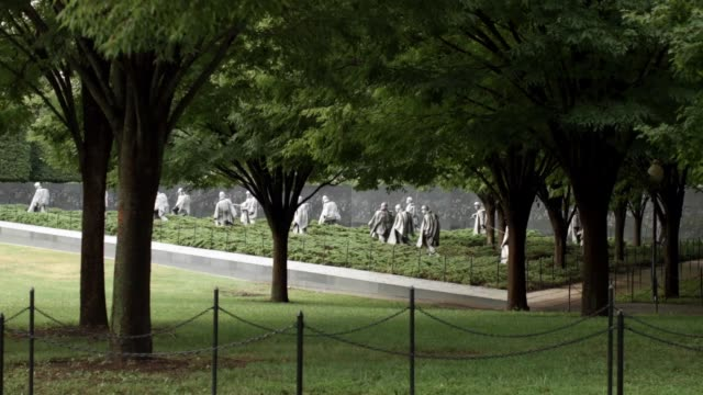 general views of the korean war veterans memorial on the national mall august 8 2016 in washington dc dedicated in 1995 the memorial features 19... - korean war stock videos and b-roll footage