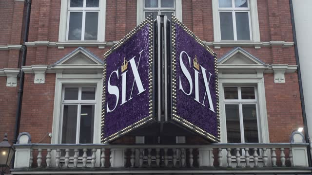 general views of the lyric theatre that is currently preparing to reopen its doors with the musical six on march 16, 2021 in london, england... - guidance stock videos & royalty-free footage