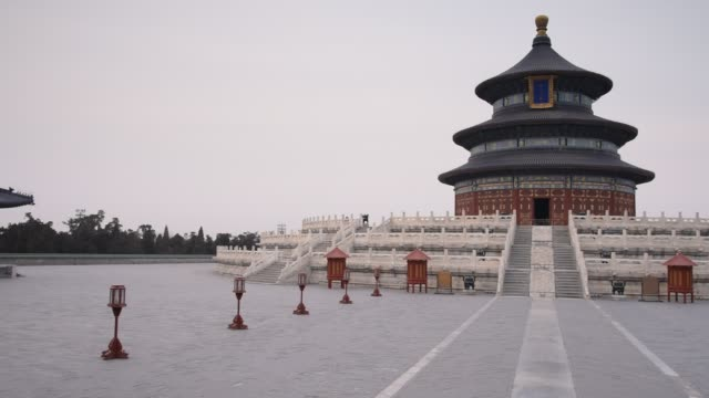 vidéos et rushes de general views of the temple of heaven in tiantan park beijing shot on january 28th 2015 - temple du ciel
